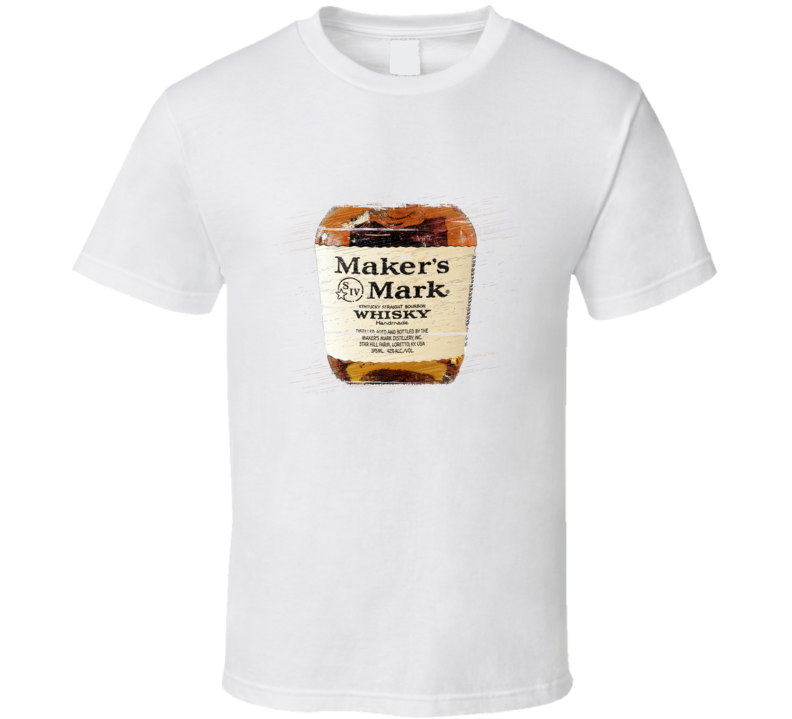 Maker's Mark Whisky Distressed Aged Look T Shirt