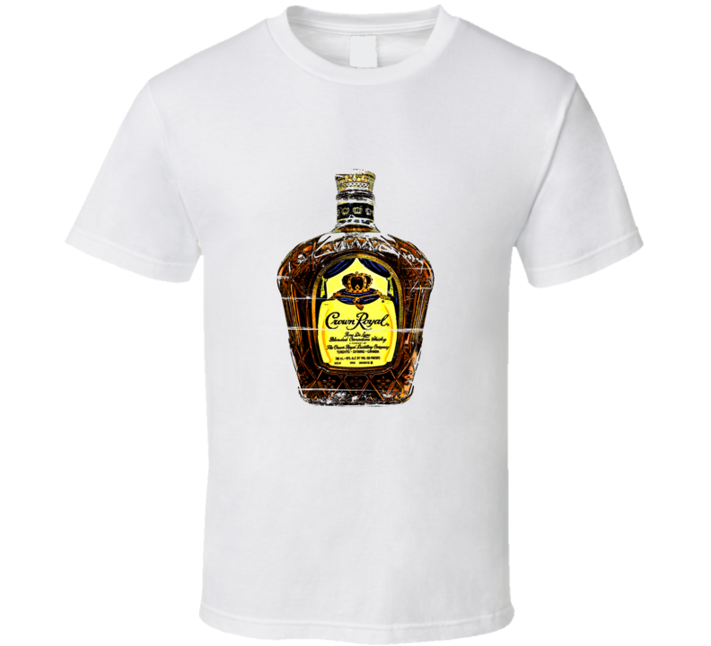 Crown Royal Whisky Distressed Aged Look T Shirt