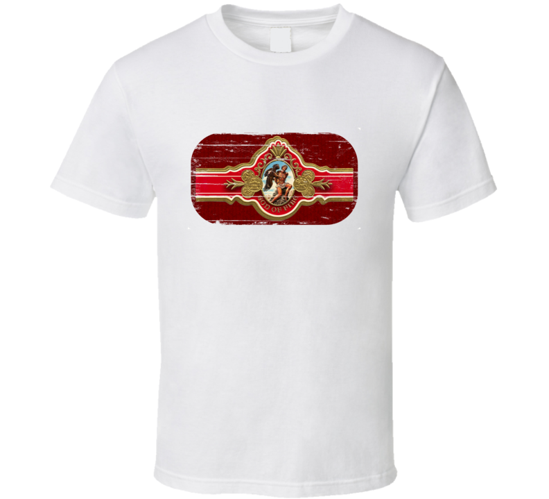 God Of Fire Cigar Band Distressed T Shirt