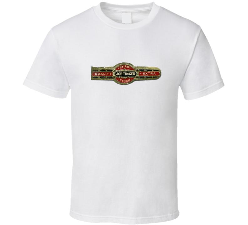 Joe Tinker Cigar Band Aged Look T Shirt