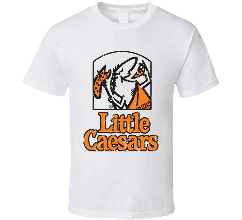 Little Caesars Pizza Fast Food Restaurant Distressed Look T Shirt