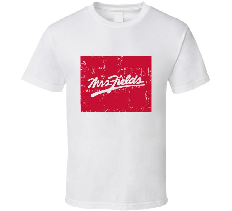 Mrs Fields Fast Food Restaurant Distressed Look T Shirt