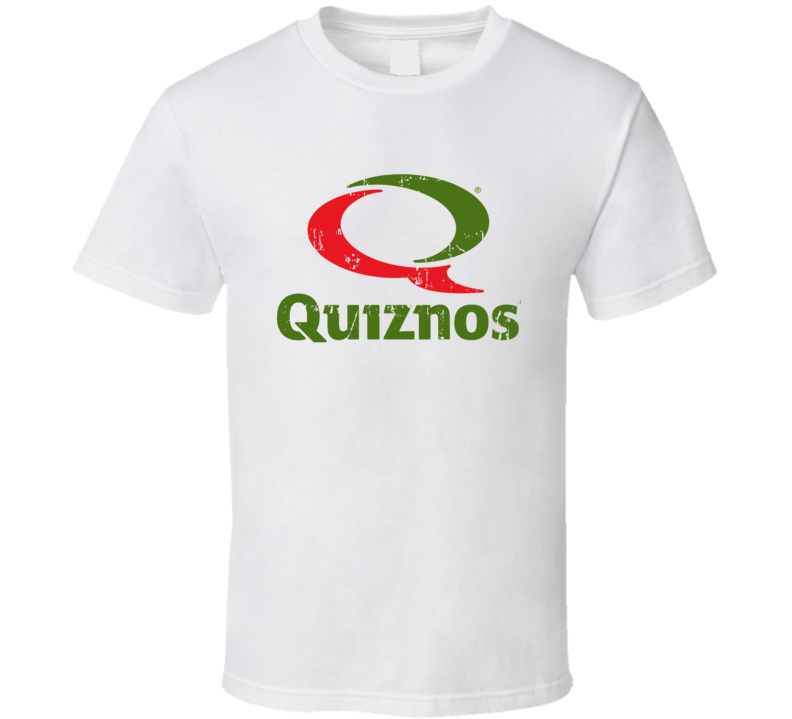 Quiznos Fast Food Restaurant Distressed Look T Shirt