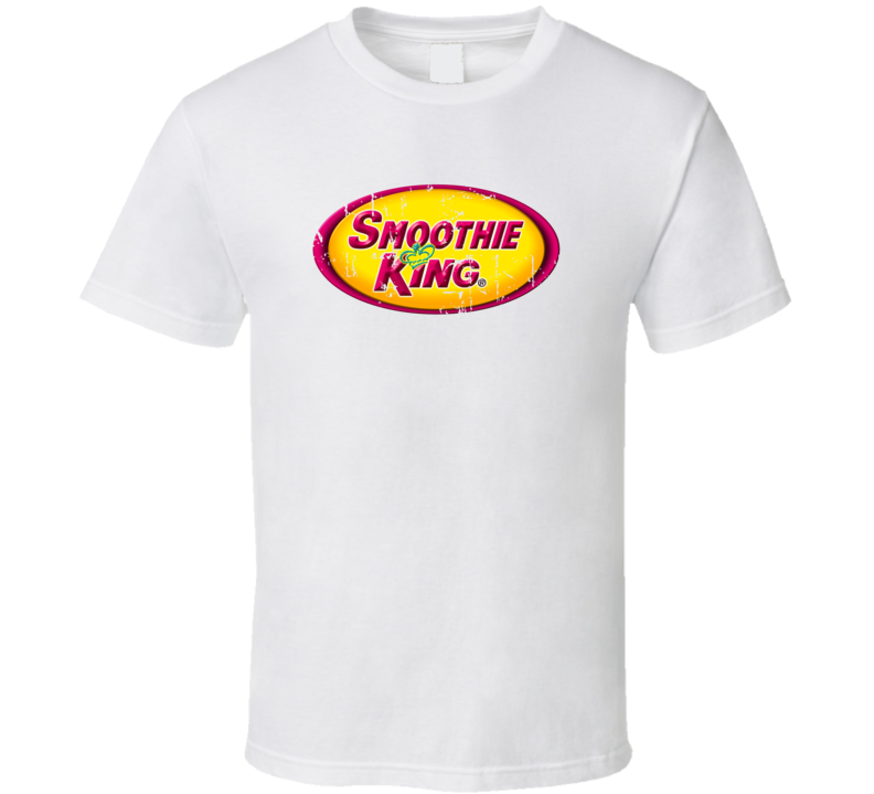 Smoothie King Fast Food Restaurant Distressed Look T Shirt