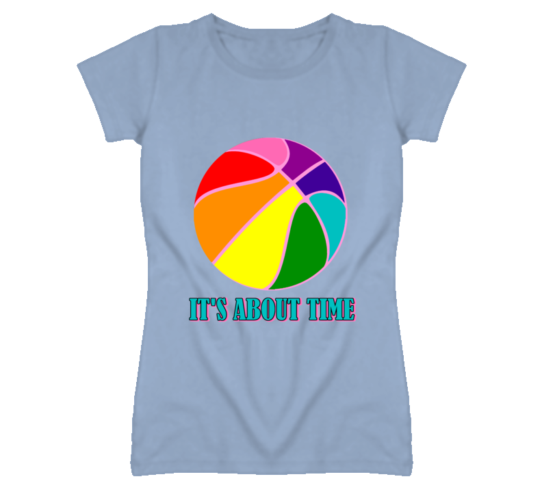 It's About Time LGBT Basketball T Shirt
