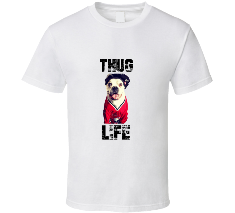 Thug The Beer Swilling Burger Eating Dog Tribute T Shirt