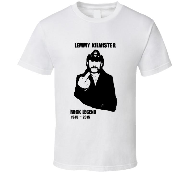 Lemmy Kilmister RIP The Finger Tribute T Shirt