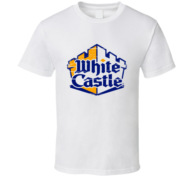 White Castle Hamburgers Distressed Aged Look Awesome T Shirt