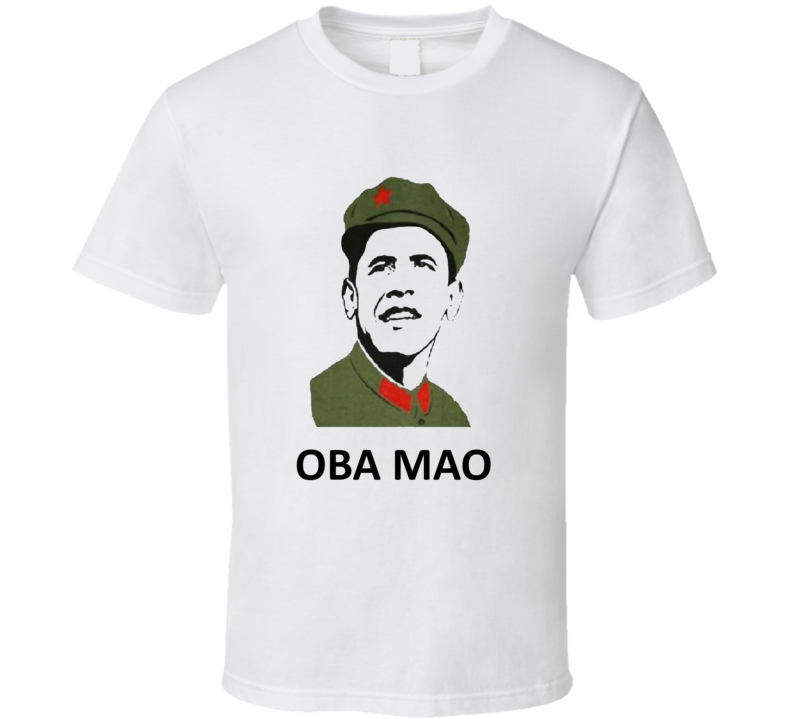 President Obama General Mao Funny Political Satire T Shirt