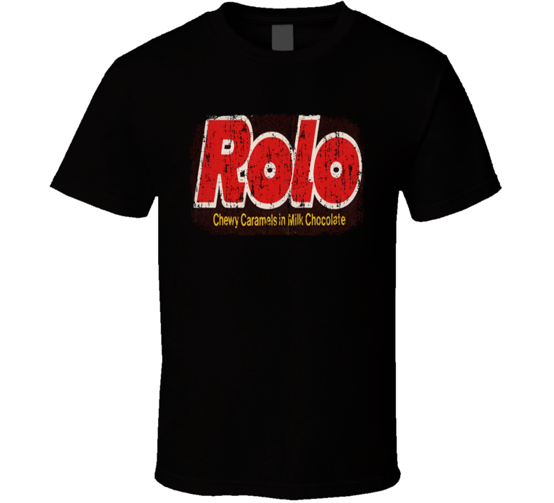 Hershey's Rolos Chocolate Candy Lover Cool Worn Look T Shirt