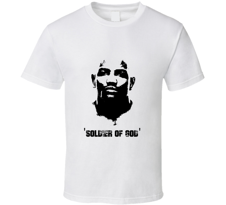 Yoel Romero Soldier of God MMA Fighter Image T Shirt