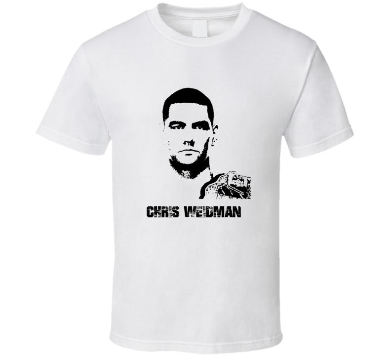 Chris Weidman MMA Fighter Image T Shirt