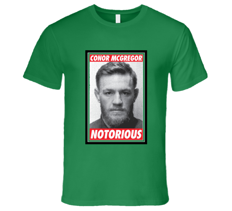 Conor Mcgregor Notorious Mma Ufc Fighter Mug Shot Nypd T Shirt