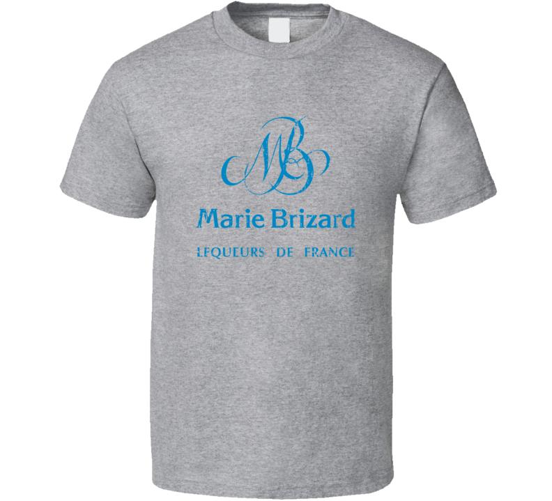 Marie Brizard Liqueur Alcohol Drinking Gift Worn Look T Shirt