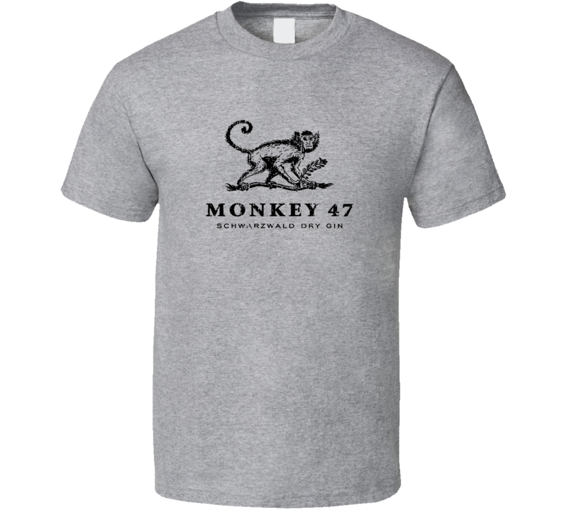 Monkey 47  Liqueur Alcohol Drinking Gift Worn Look T Shirt