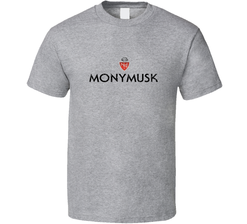 Monymusk Liqueur Alcohol Drinking Gift Worn Look T Shirt