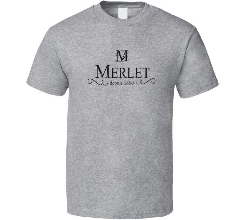 Merlet Liqueur Alcohol Drinking Gift Worn Look T Shirt