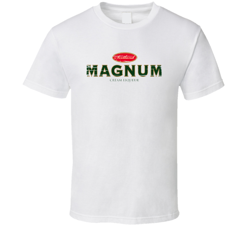 Magnum Liqueur Alcohol Drinking Gift Worn Look T Shirt