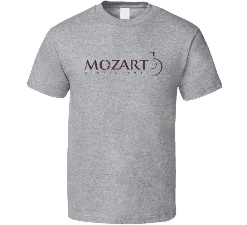 Mozart Liqueur Alcohol Drinking Gift Worn Look T Shirt