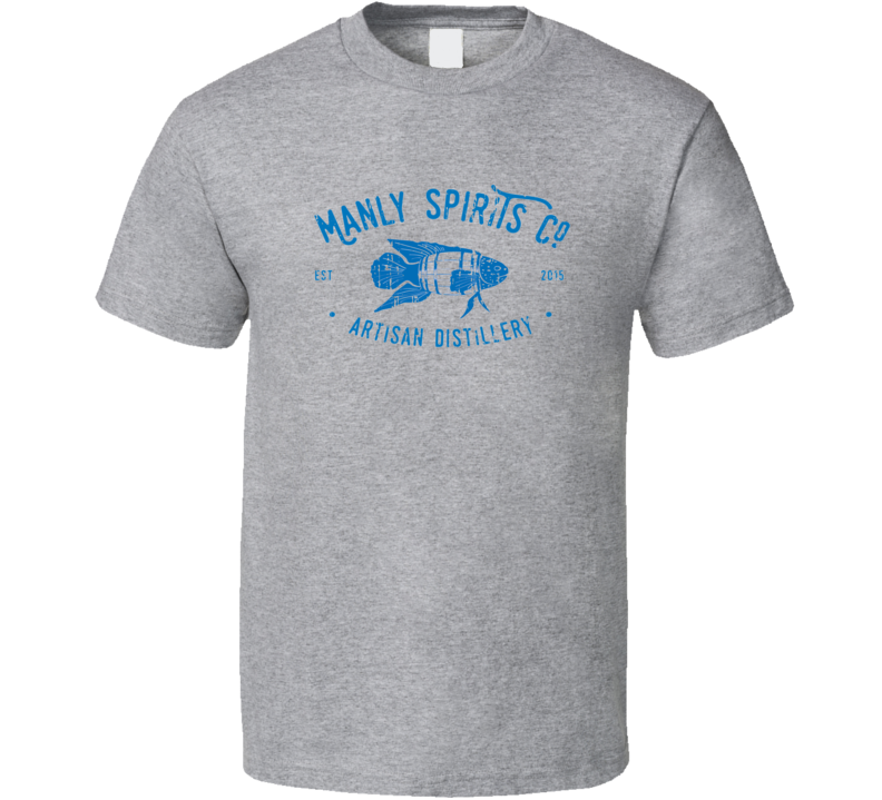 Manly Spirits Liqueur Alcohol Drinking Gift Worn Look T Shirt
