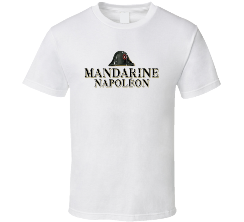 Mandarine Napoleon Liqueur Alcohol Drinking Gift Worn Look T Shirt