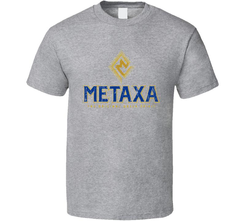 Metaxa Liqueur Alcohol Drinking Gift Worn Look T Shirt