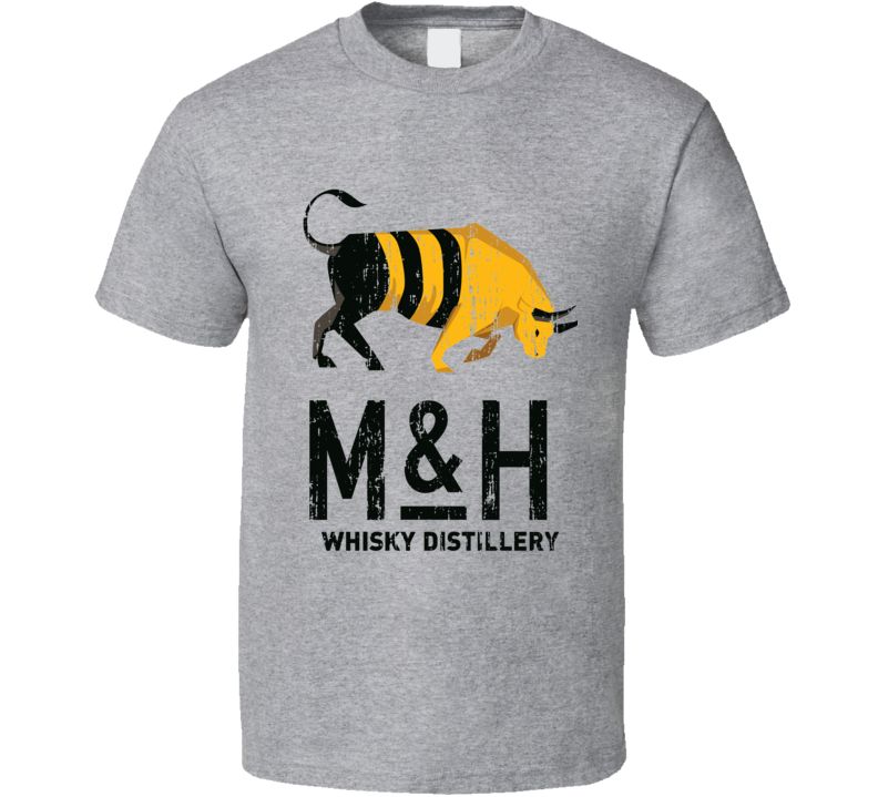 Milk & Honey Alcohol Drinking Gift Worn Look T Shirt