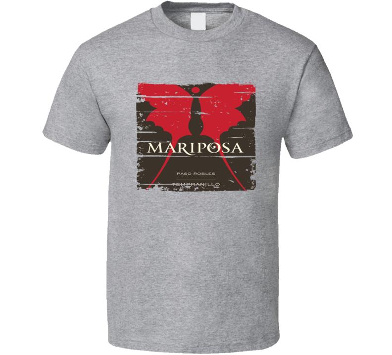 Mariposa Liqueur Alcohol Drinking Gift Worn Look T Shirt