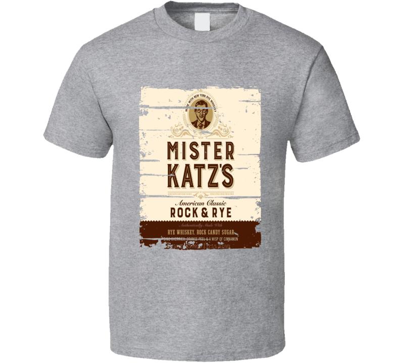 Mister Katz's Alcohol Drinking Gift Worn Look T Shirt