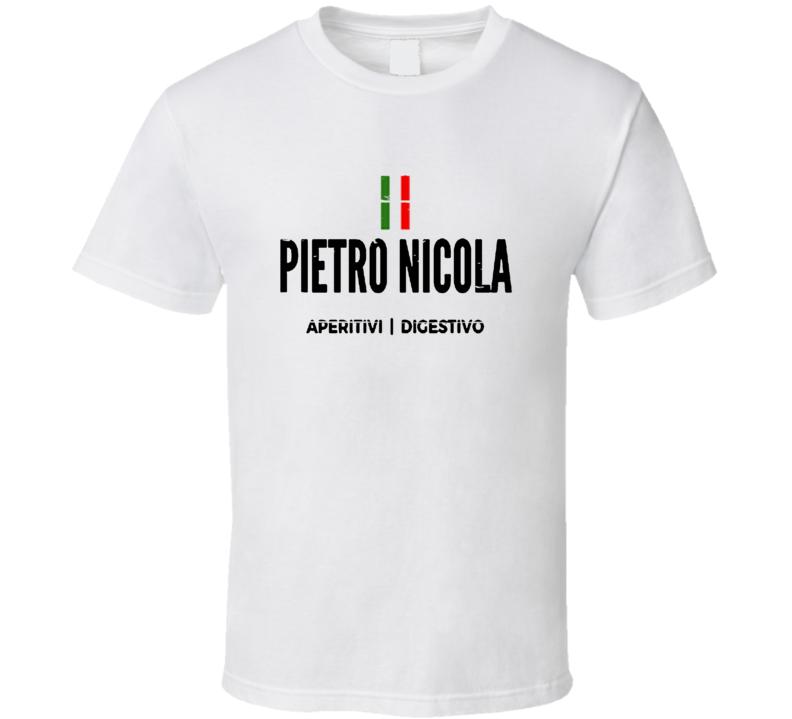 Pietro Nicola Liqueur Alcohol Drinking Gift Worn Look T Shirt