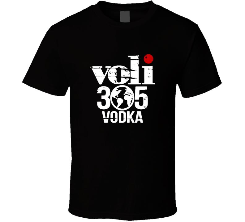Voli 305 Vodka Liqueur Alcohol Drinking Gift Worn Look T Shirt