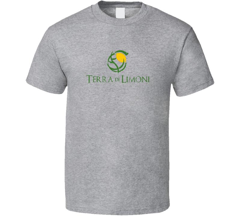 Terra Di Limoni Liqueur Alcohol Drinking Gift Worn Look T Shirt