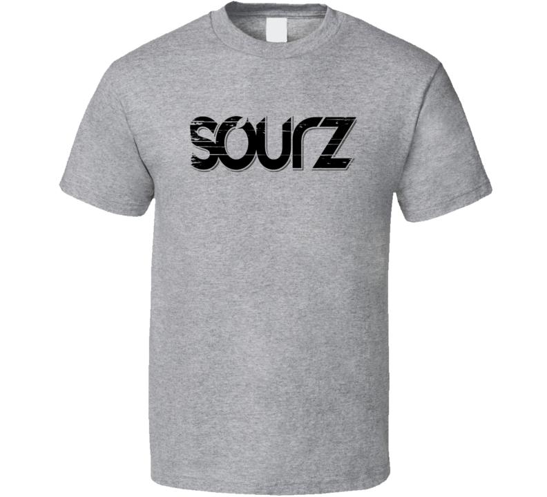 Sourz Liqueur Alcohol Drinking Gift Worn Look T Shirt