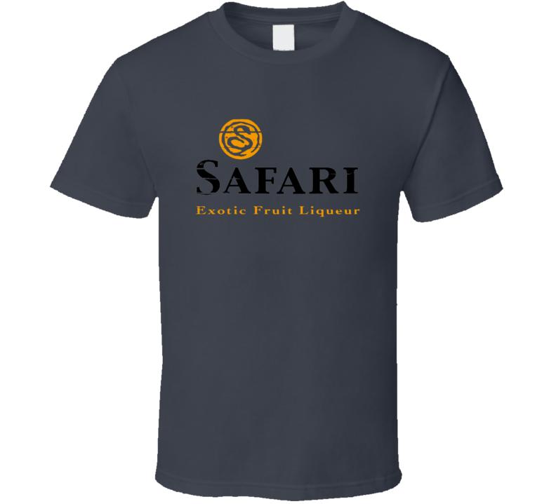 Safari Liqueur Alcohol Drinking Gift Worn Look T Shirt