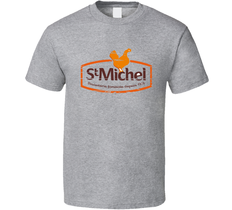 St Michel Liqueur Alcohol Drinking Gift Worn Look T Shirt