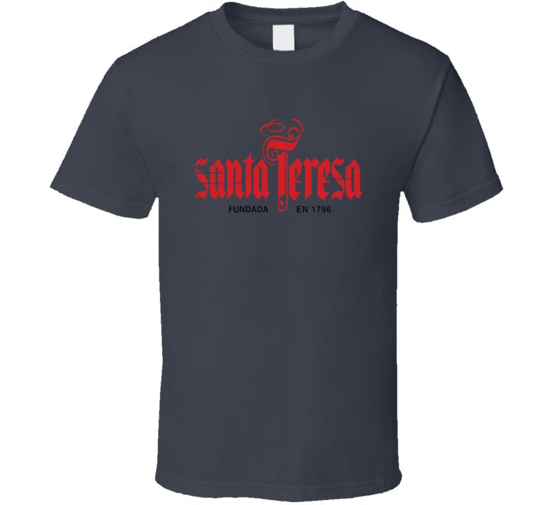 Santa Teresa Liqueur Alcohol Drinking Gift Worn Look T Shirt