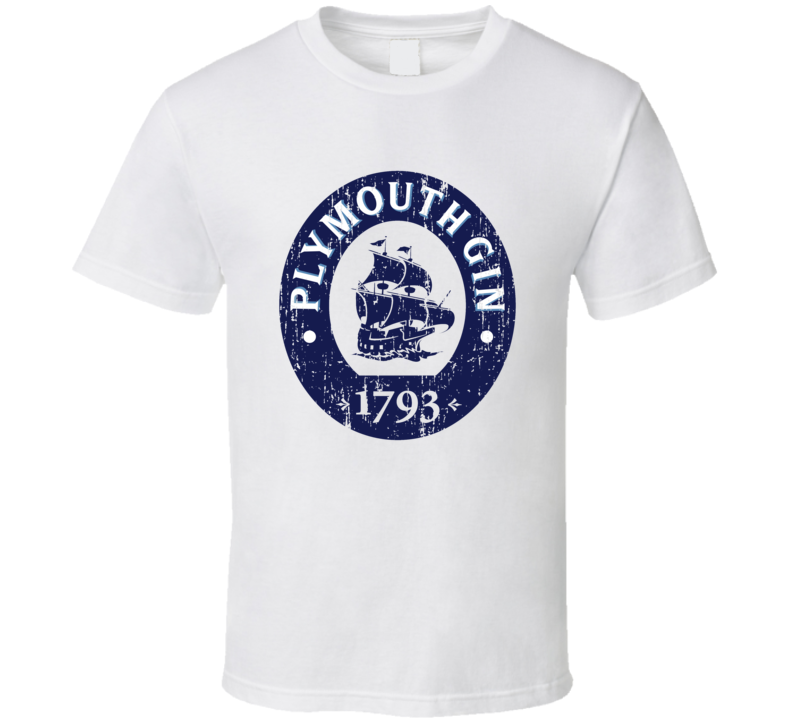 Plymouth Liqueur Alcohol Drinking Gift Worn Look T Shirt