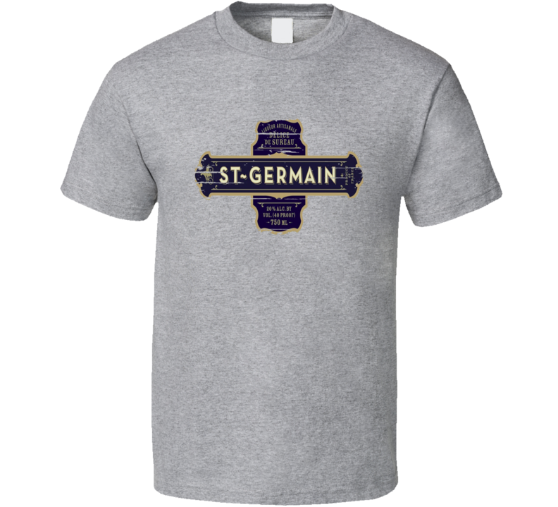 St Germain Liqueur Alcohol Drinking Gift Worn Look T Shirt
