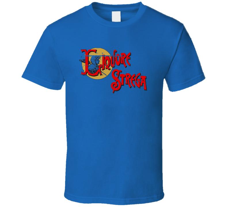 Strega Liqueur Alcohol Drinking Gift Worn Look T Shirt
