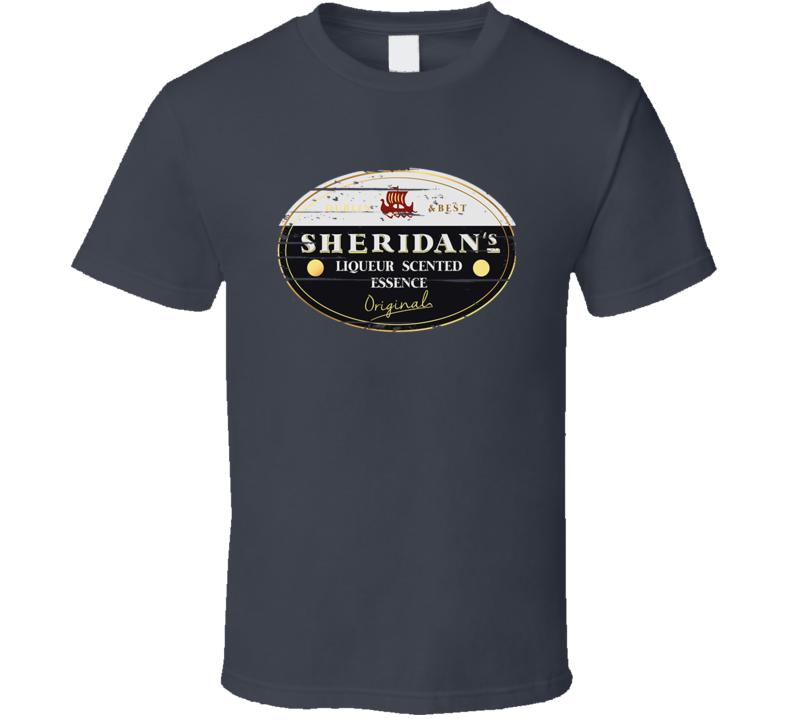 Sheridan's Liqueur Alcohol Drinking Gift Worn Look T Shirt