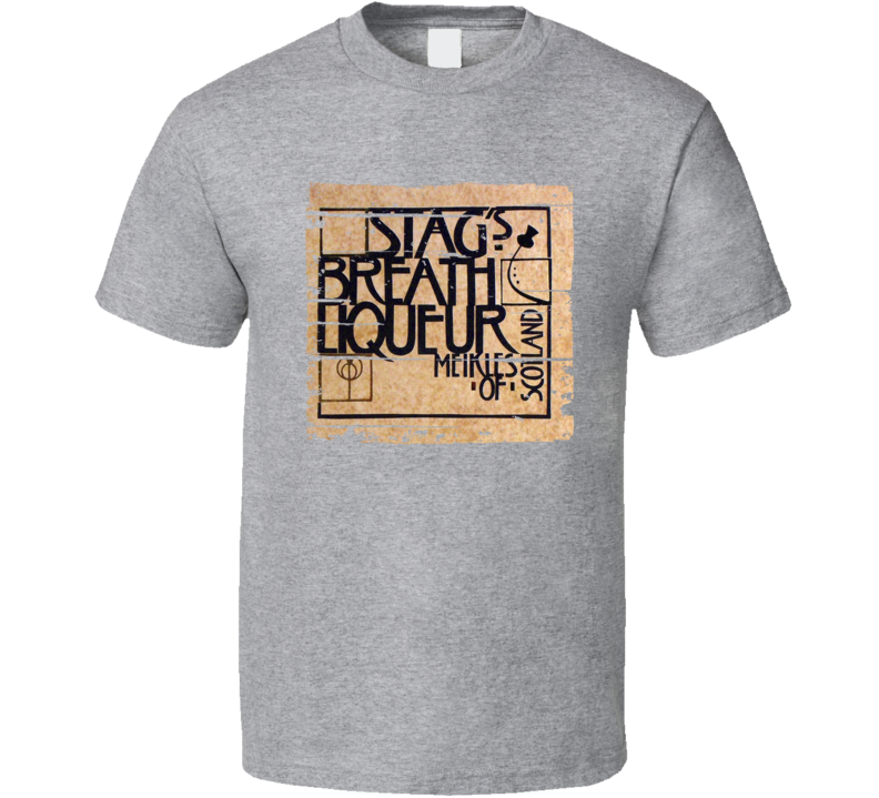 Stag's Breath Liqueur Alcohol Drinking Gift Worn Look T Shirt