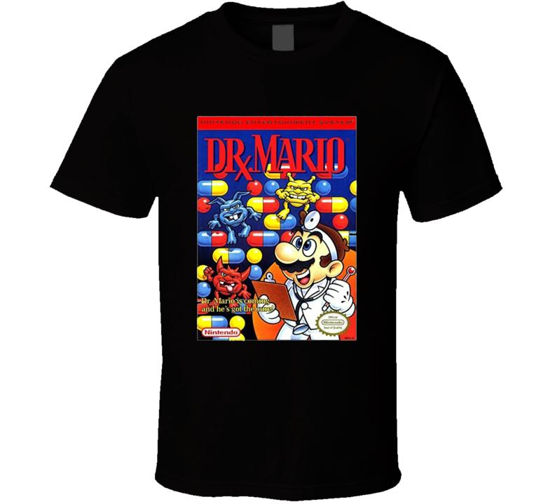 Dr. Mario Classic Video Game Cartridge Retro Gift T Shirt