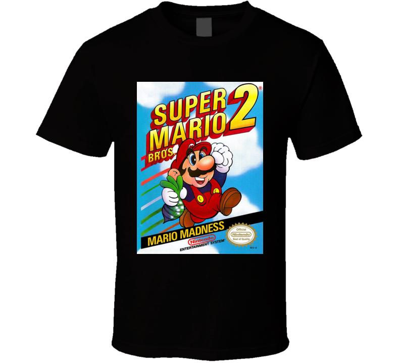 Super Mario 2 Classic Video Game Cartridge Retro Gift T Shirt