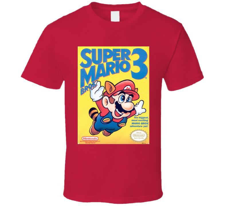 Super Mario 3 Classic Video Game Cartridge Retro Gift T Shirt