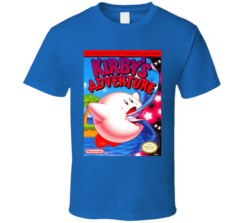 Kirby's Adventure Classic Video Game Cartridge Retro Gift T Shirt