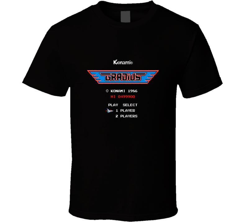 Gradius Classic Video Game Cartridge Retro Gift T Shirt