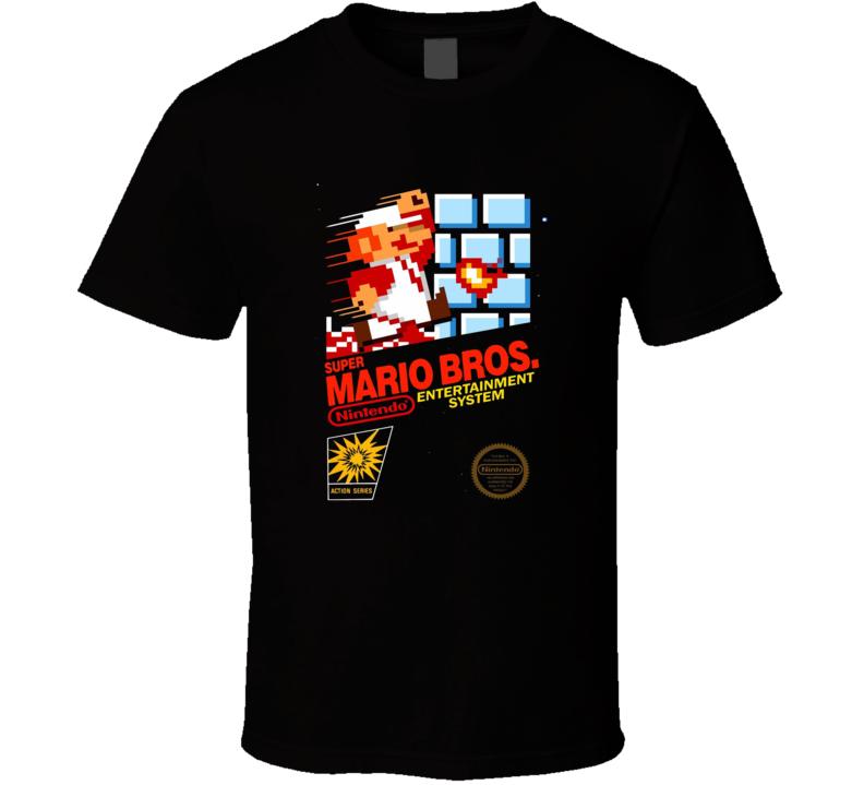 Super Mario Bros Classic Video Game Cartridge Retro Gift T Shirt