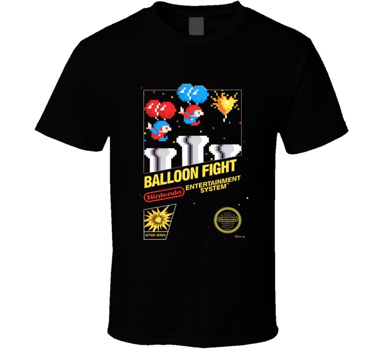 Ballon Fight Classic Video Game Cartridge Retro Gift T Shirt