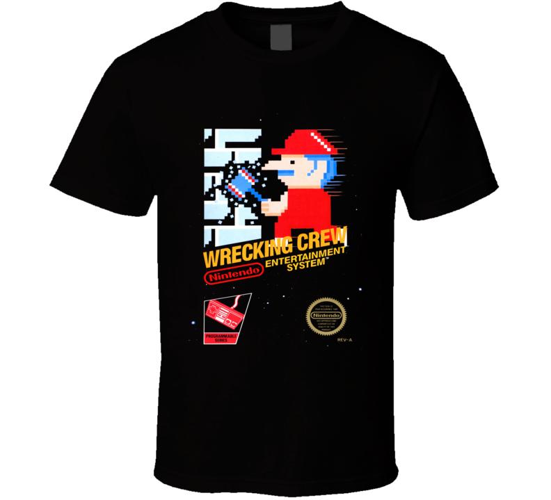 Wrecking Crew Classic Video Game Cartridge Retro Gift T Shirt