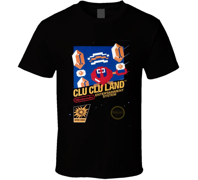 Clu Clu Land Nes Classic Video Game Cartridge Retro Gift T Shirt